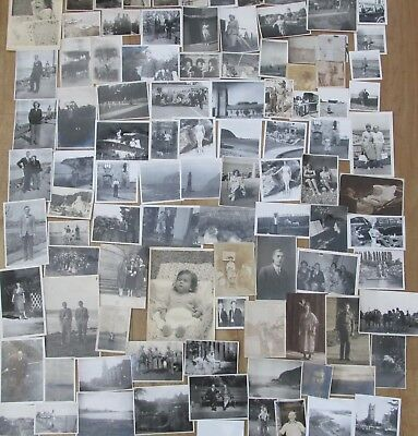 Job Lot Collection 100 Vintage Old Black And White Photographs  1900's-1960's