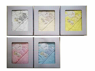[50%OFF!]  Baby Hooded 100% Cotton Towel set  Boxed-Rabbit
