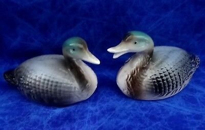 Vintage Salt And Pepper Shakers Mallard Ducks