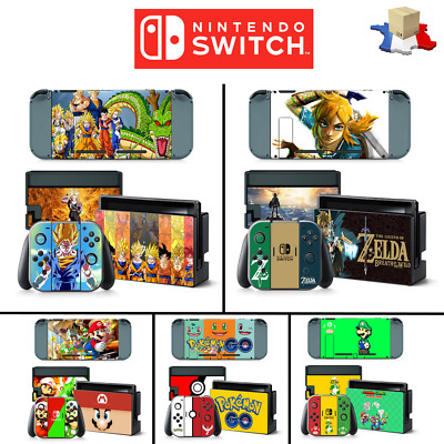 Autocollant Skin Sticker Decal Nintendo SWITCH Pokemon Dragon Ball Z Mario Kart