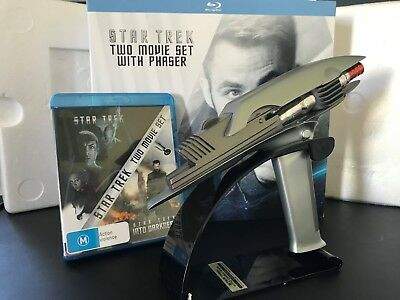 Star Trek two movie set with phaser