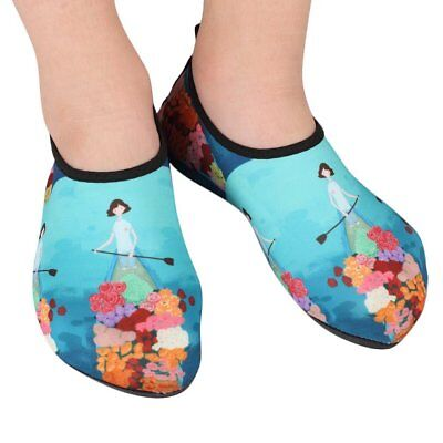 Children Kids Water Shoes Anti-slip Quick-Dry Swimming Diving Snorkeling Shoes F