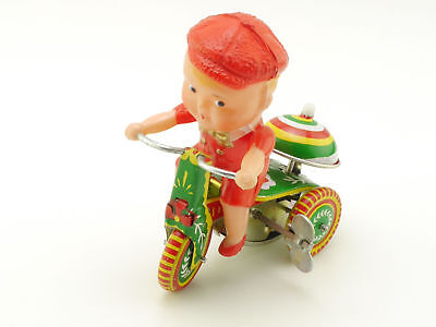 China PS-013 Dreirad Boy Tricycle Uhrwerk Blech Motorrad 70e ST 1605-05-48