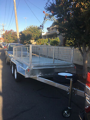 HAWTHORN - $50/day - Low Cost Trailer HIRE 10x5 Dual Axle with Cage