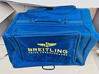 Breitling Travel Garment Suit Bag w/4 Pockets Blue &Yellow, Brand-New, 100x70x15