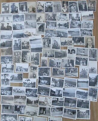Job Lot Collection 100 Vintage Old Black And White Photographs  1920's-1950's