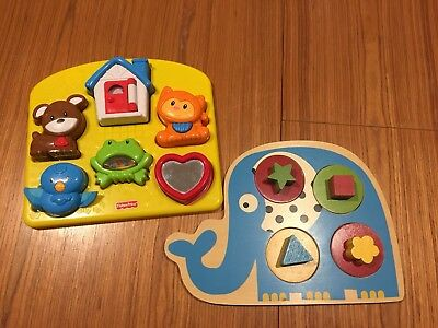 2 x Toddler Puzzles. Fisher Price And Mothercare. VGUC