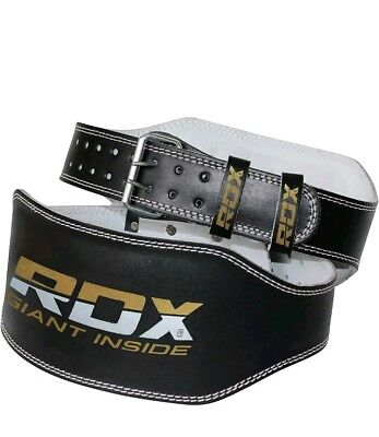"""Weight Lifting Belt 4"""" Back Support Fitness Training Power Gym Strap"""