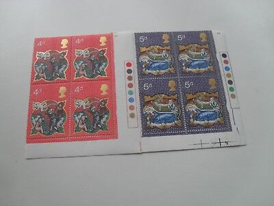 Gb Qe11 1979 Block Of Four British Christmas Stamps Mint (Mnh) With T/light