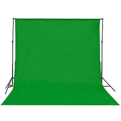 Cotton Chromakey Green Screen Muslin Backdrop Photo Photography Background Kit~