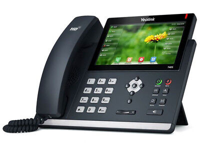 NEW IN BOX Yealink Ultra-Elegant Gigabit VoIP Touchscreen Phone SIP-T48S + Power