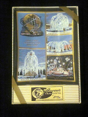 1964-1965 New York  Souvenir Tray Gift Houze Art Glass In Box Mint