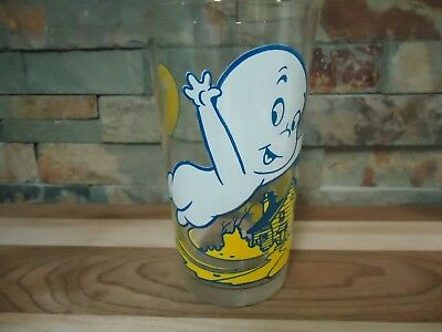 Vintage Casper The Friendly Ghost-Collectors Glass-Harvey Comics-Haunted House