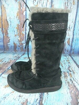 10b5adfb77a UGG AUSTRALIA TULAROSA (Womens Size 8) Route Cable Knit Pull On Boot ...