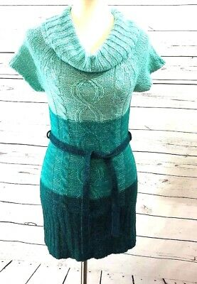 I'm in Love With Derek Multicolored Crochet Knitted Sweater Dress Size Large