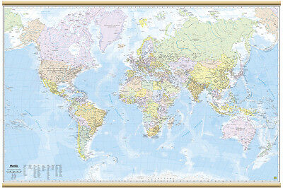 WORLD/PLANISPHERE MAP WALL [200x128 CM] [map/map/POSTER] BELLETTI EDIT