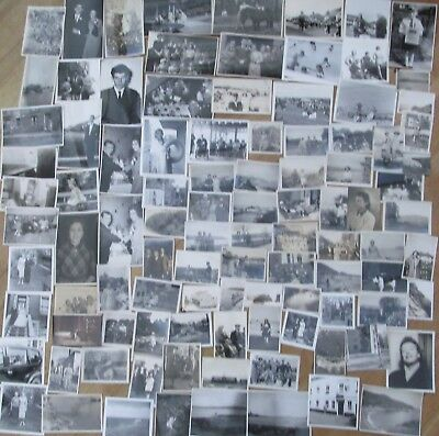 Job Lot Collection 100 Vintage Old Black And White Photographs  1920's-1960's
