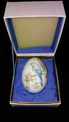 Easter 1979 Noritake Limited Edition Bone China Egg in Box, Japan