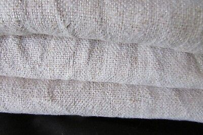 Antique French beautiful homespun slubby chanvre linen feed flour sack c1840s