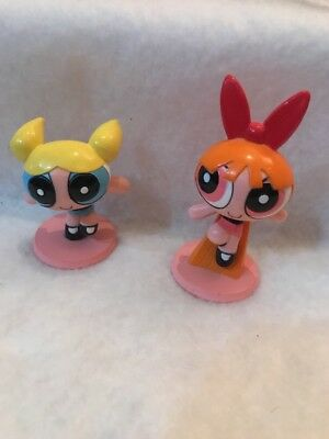 Powerpuff Girls Cake Topper Buttercup Blossom PVC Figures Lot Bakery Crafts