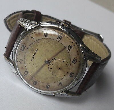 Rare Vintage WWII Military MARVIN 15 Jewels Cal.540 3Adjustments Swiss 1940's