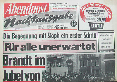 Abendpost 20. März 1970 - Willy Brandt in Erfurt