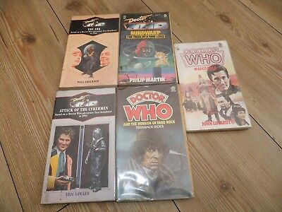 Dr Who Target Paperback Lot of 5. 94, 139, 114, 138, Horror of Fang Rock