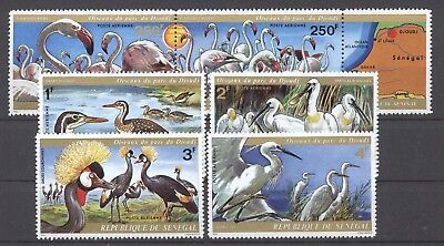 Vögel, Birds - Senegal - 543-548 ** MNH 1974 !