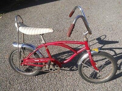 "1969 Schwinn midget Stingray bicycle red 16"" sting ray vintage banana seat"