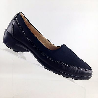 92306c4a9452 Naturalizer  Justify  N5 Comfort Black Leather Slip On Heels Womens Size 6 M