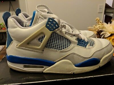 watch 91d93 0d4a0 ... nike air jordan retro 4 iv off white military blue neutral grey 2006  size 10