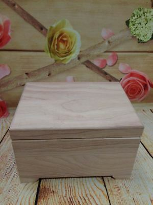 Wooden Pet Ashes Casket Urn Dog Supplies Memorial Coffin Strong Solid Wood Plain