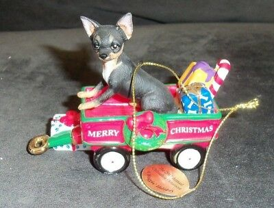 COLLECTIBLE~DANBURY MINT THE 2011 ANNUAL CHIHUAHUA ORNAMENT~A Waggin Holiday BRN