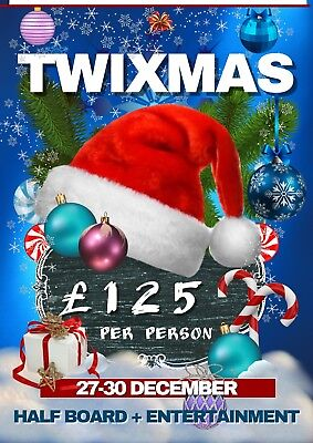 TWIXMAS - CHRISTMAS HOLIDAY for 2 in BLACKPOOL. 3 nights HB