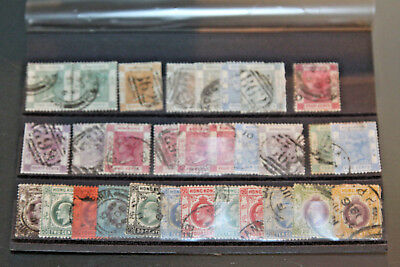 Hong Kong - Queen Victoria - George V - Used Selection In Stockcard