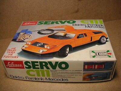 Schuco Servo 351214 Mercedes Benz C111 Rennwagen OKT Germany Tin Car Tole Latta