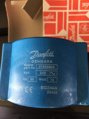 Danfoss Coil for Solenoid Valve 240V 50Hz 12W With Connection Box IP67 #018ZF680