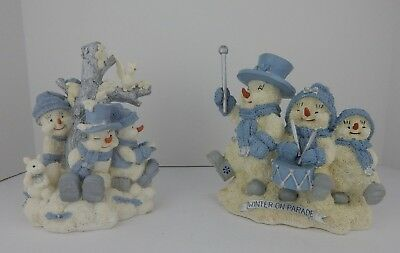 Encore Snow Buddies Lot of 2 Figurines w/Boxes Good Condition (8)