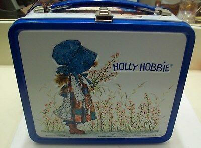 Holly Hobbie Metal Lunchbox, Plastic Thermos, 1972, New with Tags