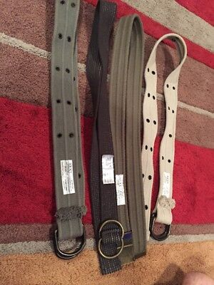 4 X UNISEX NEXT  BELTS 3 Are DOUBLE D RINGS X 4
