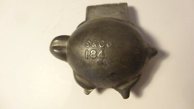 Antique Vintage Pewter Ice Cream Mold - TURTLE - S&Co #184