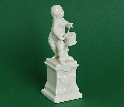 Nymphenburg Porzellan / Putte / Putto Mit Trommel Auf Postament / Form 803a TOP