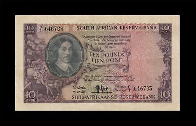 18.12.1952 South Africa 10 Pounds **rare** (( Vf+/ef ))