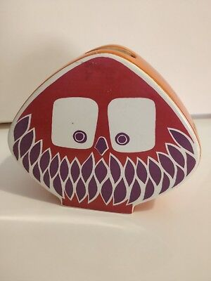 Vintage Carlton Ware Owl Money Box pink purple Vivienne Brennan Retro 60s 70s