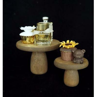 Wooden Round Cake Stand Cupcake Holder Dessert Display Plate Wedding Party