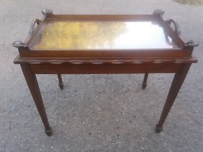 Antique Removable Tray Topped Coffee / Occassional Table