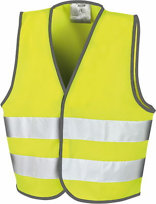 New Junior Boys Girls Kids Hi Vis Viz Visibility Safety Vest Jacket Waistcoat