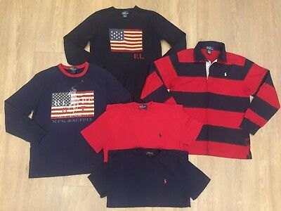 Genuine Ralph Lauren Tshirt Cable Knit Jumper Clothes Bundle, Age 10-12 Years