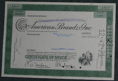 American Brands, Inc. 1974 50 Shares.