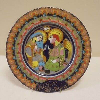 Vintage Rosenthal - Bjorn Wiinblad Christmas Plate - `The Annunciation` - 1975